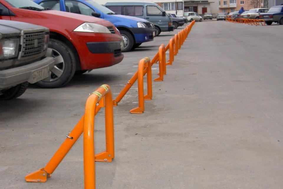Ограничитель въезда на парковку изготовить